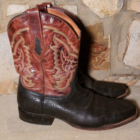 ca5b5ac28e7 Lucchese Resistol Ranch Black/Brown Boots 12EE